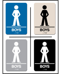 Boys Restroom Lavatory ADA/Braille Sign