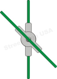 © Street Sign USA Adjustable Cross Piece Bracket For Street Name Signs Data Spec