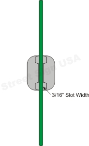 © Street Sign USA Economy U Channel Sign Post Bracket For Street Name Signs Data Spec
