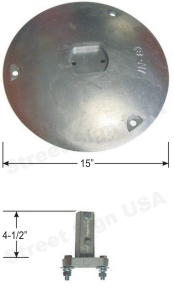 © Street Sign USA Aluminum Post Mounting Base Data Spec