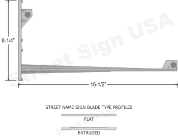 © Street Sign USA Metro Wing#8 Data Spec
