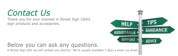 Contact Us At Street Sign USA