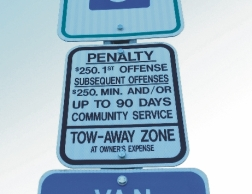 Handicap Parking Penalty Fine Sign From Street Sign USA