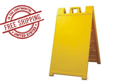 Signicade A-Frame Sign Stand Yellow