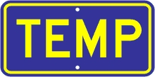 M4-7a TEMP Auxiliary Sign