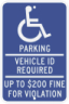 Minnesota State Specified Disabled Parking Sign