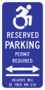 Connecticut State Specified Disabled Parking Sign w/ Arrows
