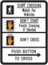 Pedestrian Traffic Signal Symbol Sign