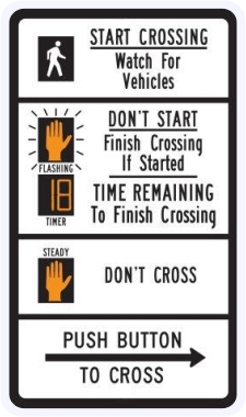 Pedestrian Traffic Signal Countdown Sign