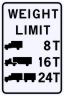 Bridge Weight Limits Sign - Customizable