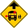 School Bus Stop Ahead Symbol Sign