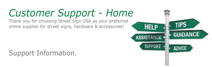 support street sign usa