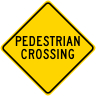 Pedestrian Crossing Roadway Warning Sign