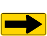 One Directional Large Arrow Roadway Warning Sign