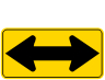 Two-Direction Large Arrow Warning Sign