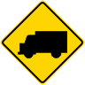 Truck Crossing Symbol Warning Sign