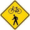 Bicycle/Pedestrian Crossing Symbol Sign