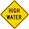 High Water Roadway Warning Sign