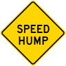 Speed Hump Warning Sign