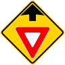 Yield Ahead Symbol Roadway Warning Sign