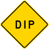 DIP/Depression Roadway Warning Sign