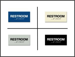 Restroom ADA/Braille Sign