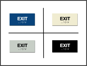 Exit - Emergency Exit ADA/Braille Sign