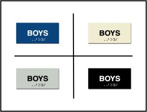 Boys Restroom Lavatory ADA/Braille Sign