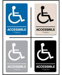 Wheel Chair Accessible ADA/Braille Sign