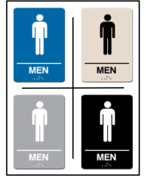 Men's Restroom Lavatory ADA/Braille Sign