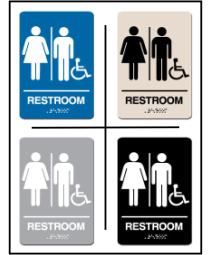 Men - Women Restroom w/ Wheel Chair Symbol