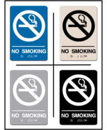 No Smoking w/ Symbol ADA/Braille Sign