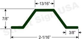© Street Sign USA 1.12lb. per foot U Channel Sign Post Data Spec