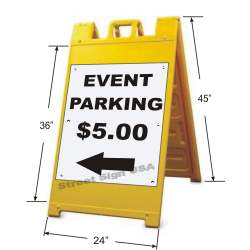 © Street Sign USA Signicade A-Frame Yellow Data Sample