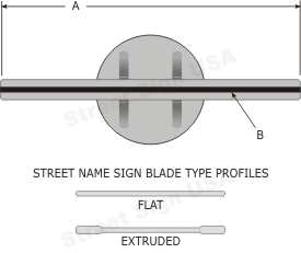 "© Street Sign USA Heavy Duty 2-3/8"" Pipe Post Bracket For Street Name Signs Data Spec"