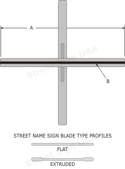 "© Street Sign USA 12"" Heavy Duty Cross Piece Bracket For Street Name Signs Data Spec"
