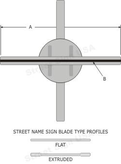 © Street Sign USA Heavy Duty Cross Piece Bracket For Street Name Signs Data Spec