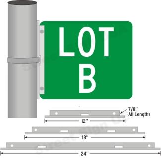 "© Street Sign USA 12"" x 18"" x 24"" Wing Bracket Data Spec"