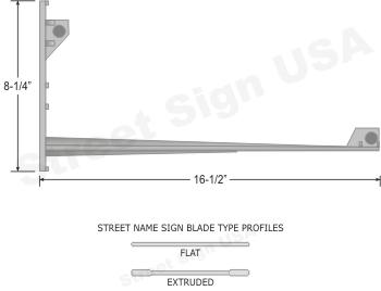 © Street Sign USA Metro Wing#8 Data Spec
