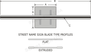 © Street Sign USA Square Post Brackets Data Spec
