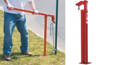 Sign Post Puller With Chain & Slip Hook