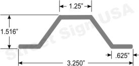 © Street Sign USA 2lb. per foot U Channel Sign Post Data Spec