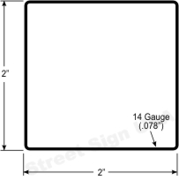 """© Street Sign USA 1-3/4"""" Square Sign Post Data Spec"""