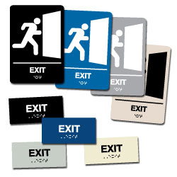Street Sign USA Braille Exit Sign Assortment