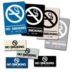 Street Sign USA Braille No Smoking Sign Assortment