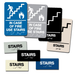 Street Sign USA Braille Stairs Sign Assortment