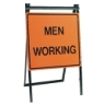 Folding A-Frame Stand - Men Working Sign