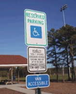 Handicap Parking Sign From Street Sign USA