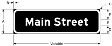 Street Sign USA's Flat Blade Street Name Sign Dimensions