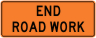 End Road Work Construction Sign